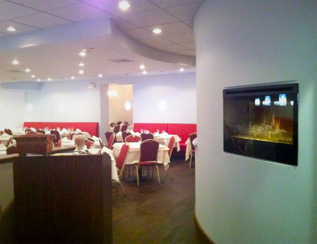 a picture of our new dining room
